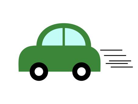 Car car sideways green