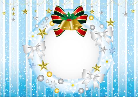 与白色租约的圣诞贺卡