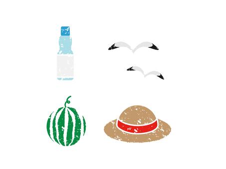 Stamp-style summer motif 2
