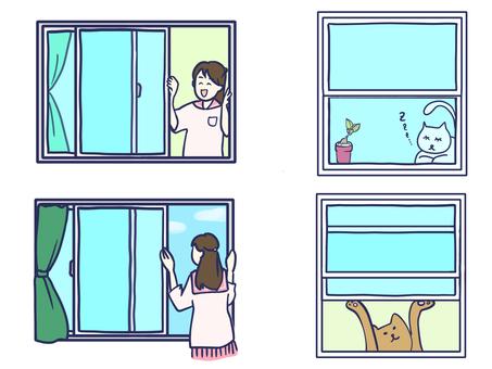 Near the window