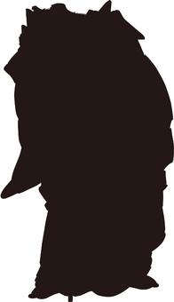 Ukiyo-e character silhouette part 104