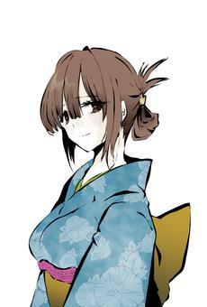 Yukata beautiful woman