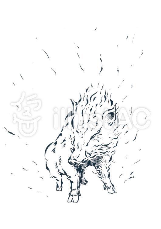 動物-イノシシのイラスト