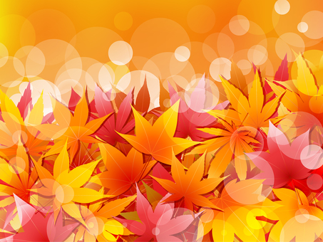 ai Autumn leaves and leaf background · wallpaper · frame