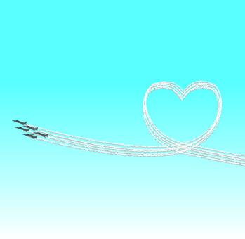 Airplane air force heart