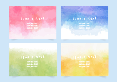 Watercolor frame set new