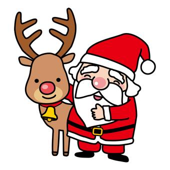 Reindeer with Santa
