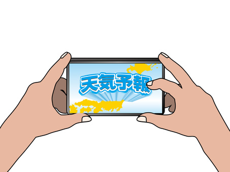 Smartphone application (1) Weather forecast