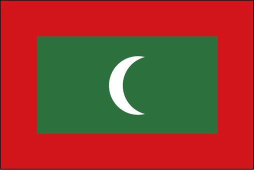 Maldives national flag (no name)
