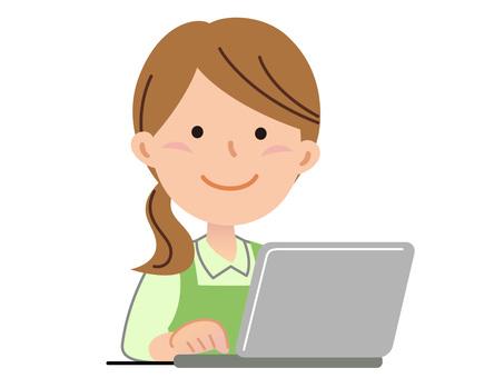 5825. Helper Woman, Personal Computer 1