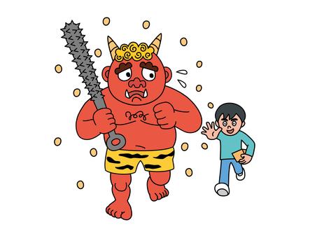 Setsubun Demons and Children