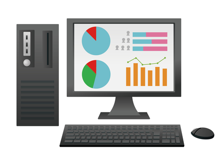 Data management with personal computer