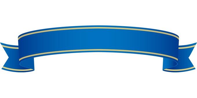 Ribbon blue fringing