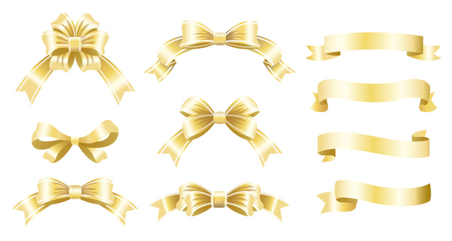 Ribbon summary material White gold
