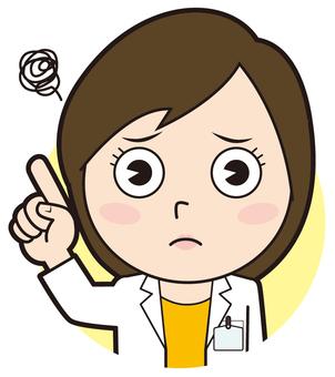 Fingering female doctor (worried)