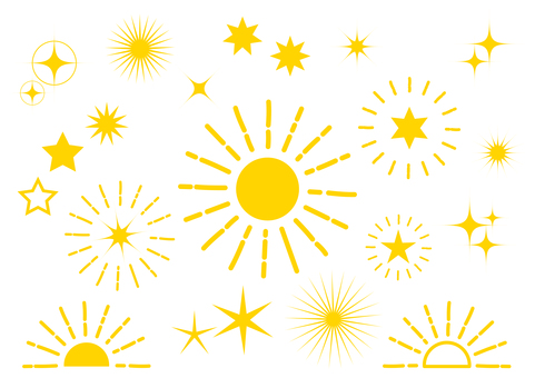 Yellow radial glitter background material