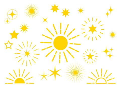 노란색 광선 반짝 배경 소재