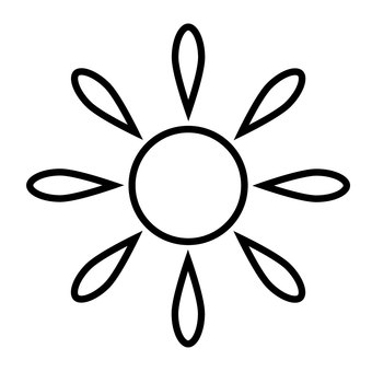 Weather mark [Sunny (black and white)]