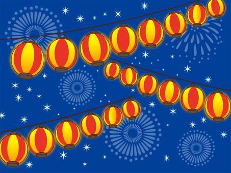 Festival fireworks and lanterns