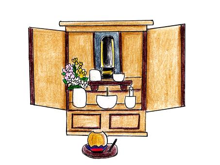 Modern style Buddhist altar
