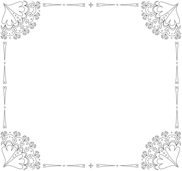 Antique style decorative frame black