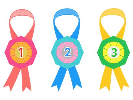 Origami handmade medal set
