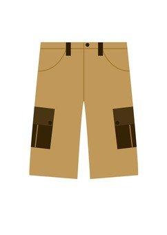 Shorts pants (cream color)
