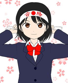 Examination student girl
