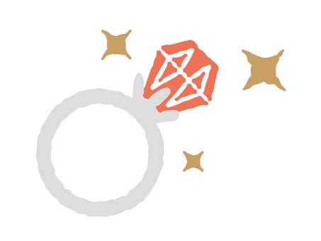 Red gem ring