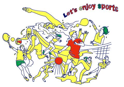 スポーツの集合イラストセット