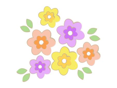 Hand-drawn style retro bouquets