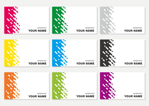 Business card template business