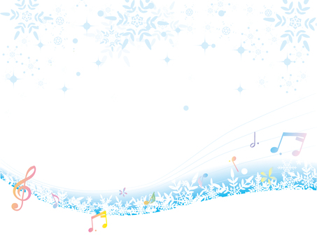 Snow crystal _ winter background _ new three notes