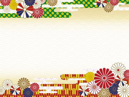 현대 일본식 디자인 프레임 국화 2