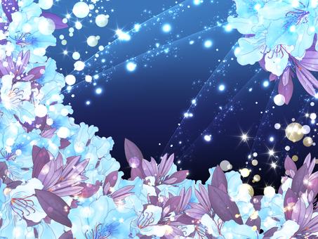 藍色的花材料