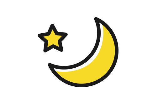 月と星のアイコン