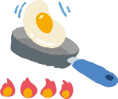 계란 후라이와 프라이팬