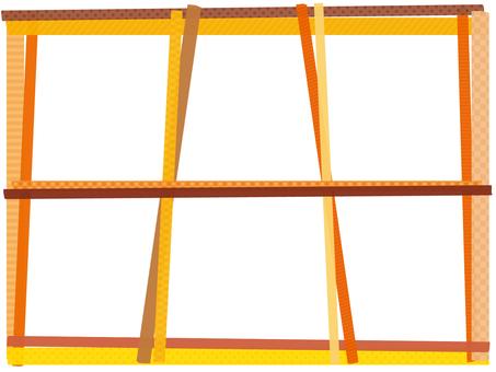 Maste frame 6 divided Orange