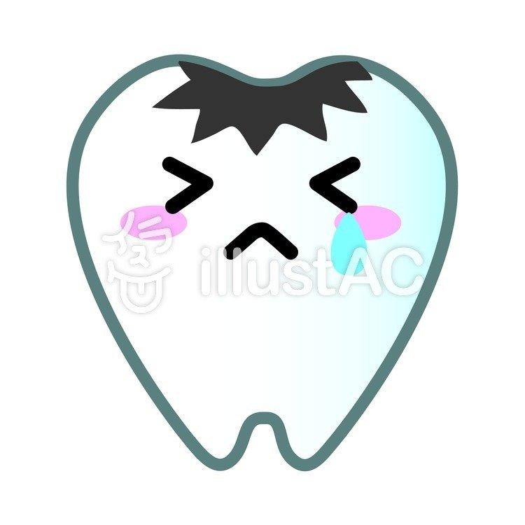 歯のマスコット虫歯イラスト No 99292無料イラストなら