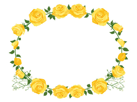 Father's Day rose garland decoration card yellow 01
