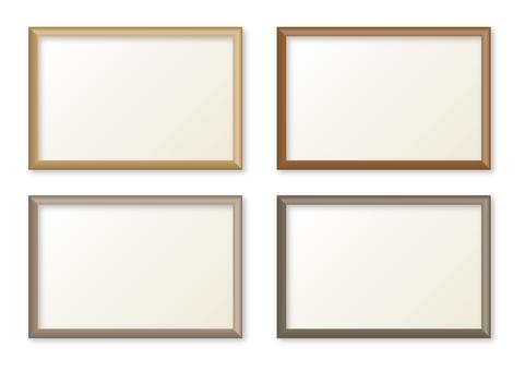 Simple frame brown type