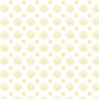 Gerbera pattern (yellow)