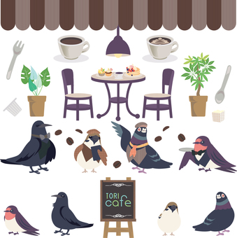 Birds and cafe? Set 01