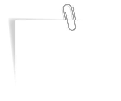 クリップでとめた紙