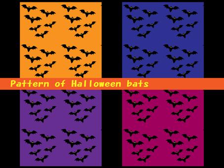 Halloween bat pattern material set
