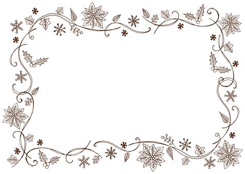 Christmas plant frame