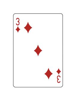 Playing Card Diamond 3