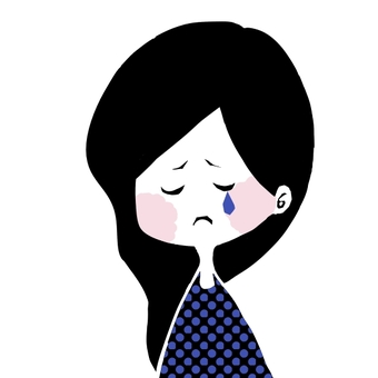 Girl crying face