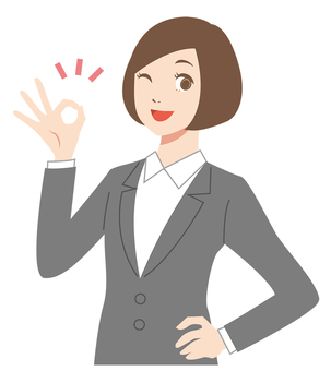 Suit female _OK Sign