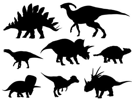 Herbivorous dinosaur _ silhouette 1